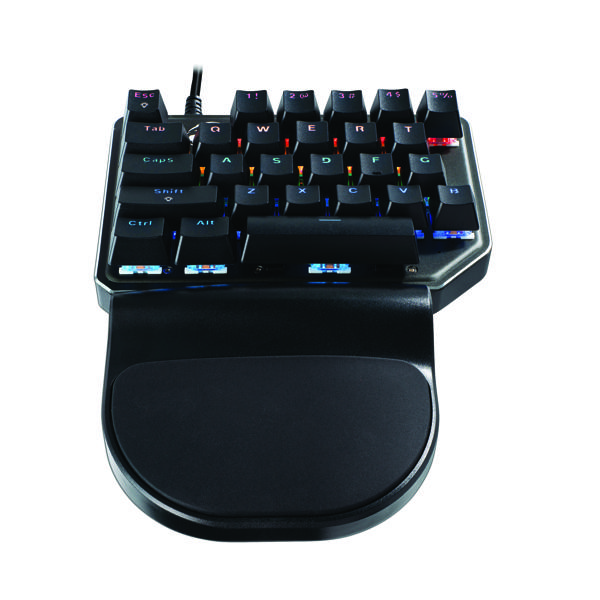MediaRange Gaming Wired Mechanical Keypad with 27 Keys and 8 Colour Modes Black/Silver MRGS100