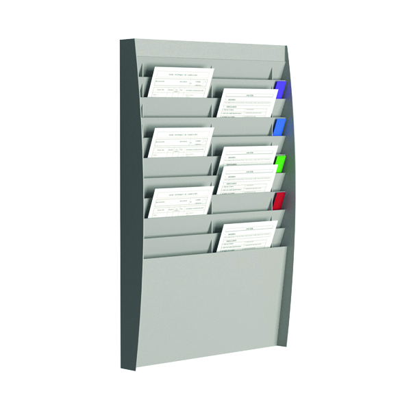 Fast Paper A4 Document Control Panel 20 Compartments Grey V210.02