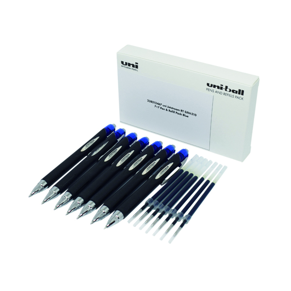 Uni-Ball Jetstream SXN-210 7 Pen/7 Refill Blue (Pack of 14) 238212467