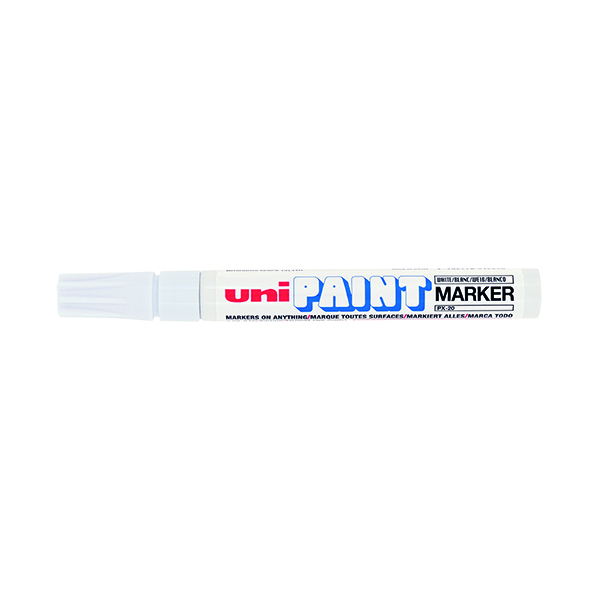 Unipaint PX-20 Paint Marker Medium Bullet White (Pack of 12) 545491000