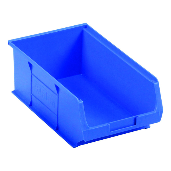 Image for Barton Tc4 Small Parts Container Semi-Open Front Blue 9.1L 200X355X125mm (Pack of 10) 010041