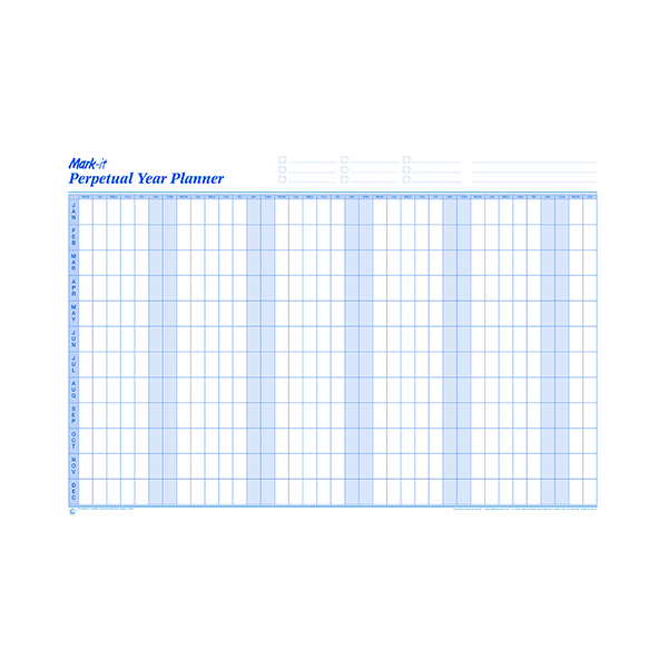 Mark-it Perpetual Year Planner (W900 x H600mm) PYP