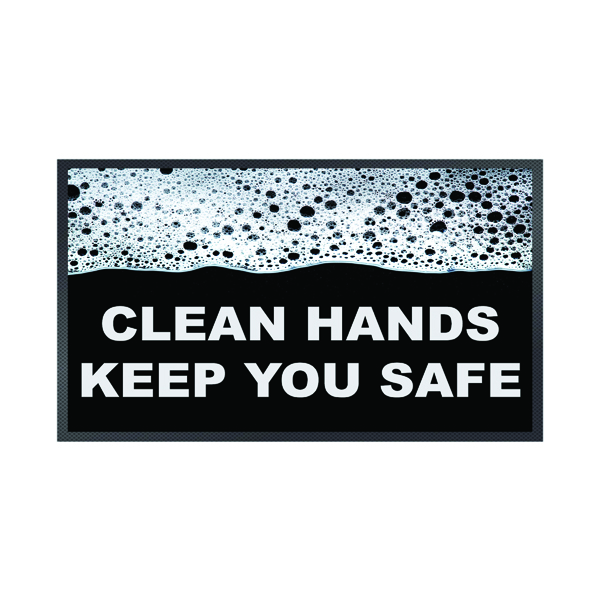 Image for Clean Hands Keep Safe Mat 85 x 150cm 19258658