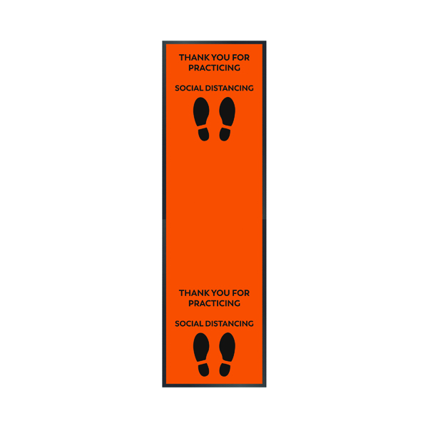 Thank You For Social Distancing 85 x 300cm Orange 19258649