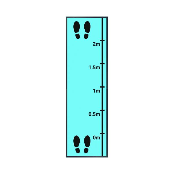 Feet And Measurements Mat 85x300cm Blue 19258768