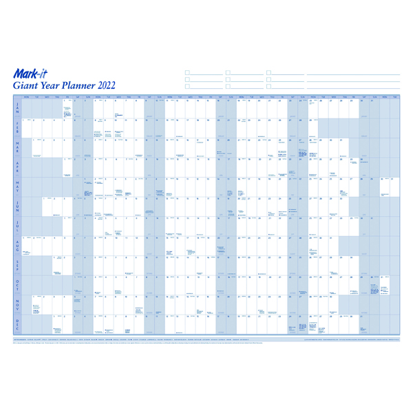 Mark-It Giant Year Planner 2022 22YP