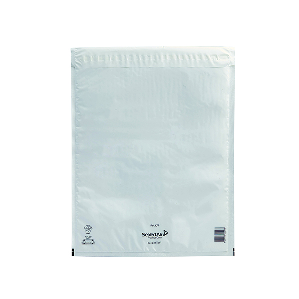 Mail Lite Tuff Bubble Lined Postal Bag Size K/7 350x470mm White (Pack of 50) 103015256