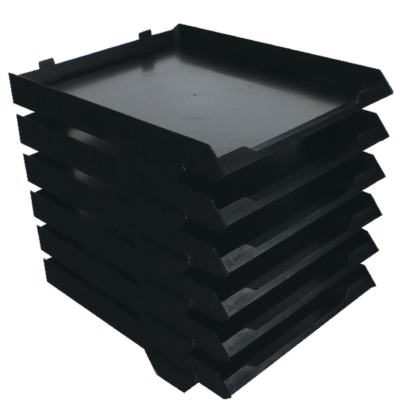 Avery Black A4 6 Tier Paper Stack (W250 x D320 x H300mm) 5336BLK