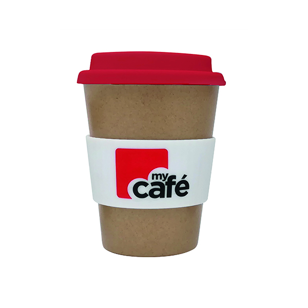MyCafe Reusable Bamboo Cup 350ml LPHBAMCMC350