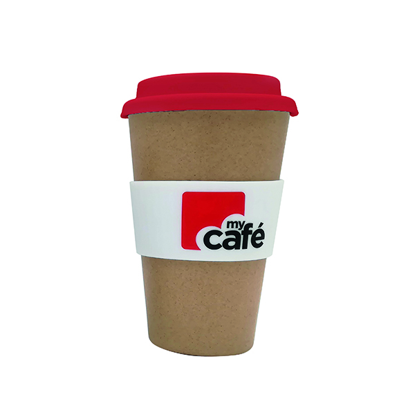 MyCafe Reusable Bamboo Cup 400ml LPHBAMCMC400