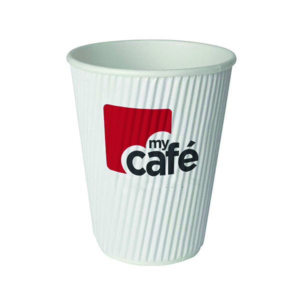 MyCafe 8oz Ripple Wall Hot Cups (Pack of 500) HVRWPA08V