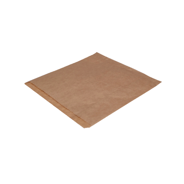 MyCafe Dependable Ribbed Kraft Bags Strung 215x215mm Brown (Pack of 1000) 201203S