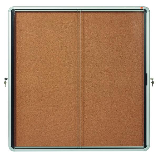 Nobo Internal Glazed Case Cork Sliding Door 12 x A4 1902574