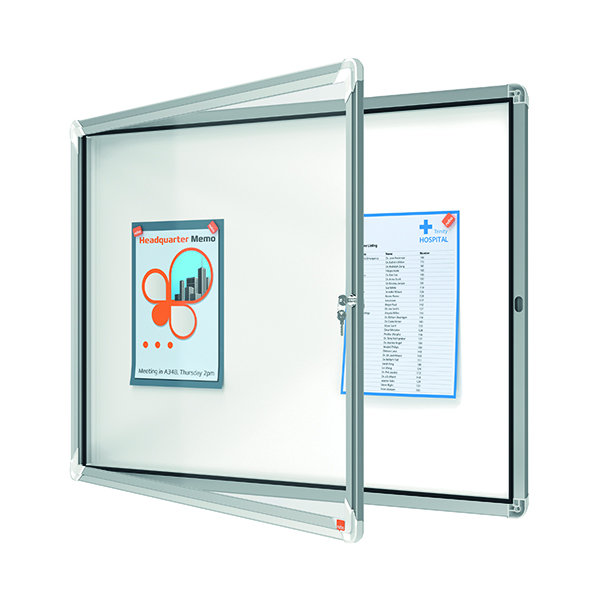 Nobo Internal Glazed Case Magnetic 8 x A4 White 1902559