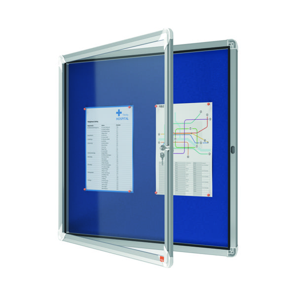 Nobo Internal Glazed Case Fabric Inner 6 x A4 Blue 1902555