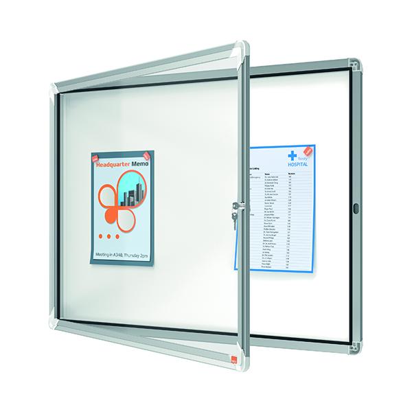 Nobo External Glazed Case Magnetic 8 x A4 White 1902579