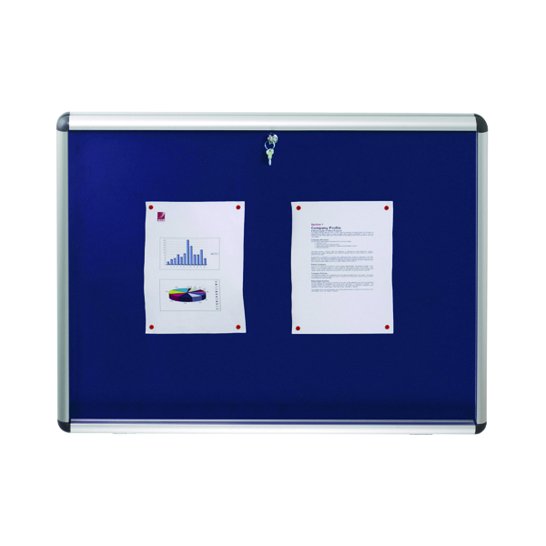 Nobo Internal Display Case A1 Blue Felt 745x1025mm 1902048