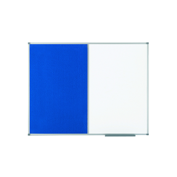 Nobo Classic Combi Blue Felt/Steel Noticeboard 900x600mm 1902257