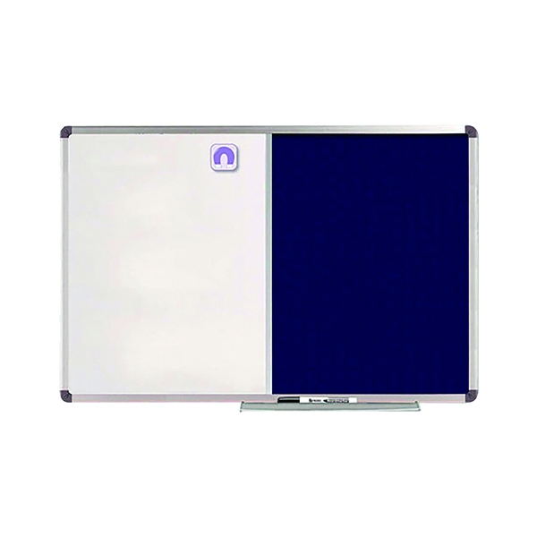 Nobo Classic Combi Blue Felt/Steel Noticeboard 1200x900mm 1902258