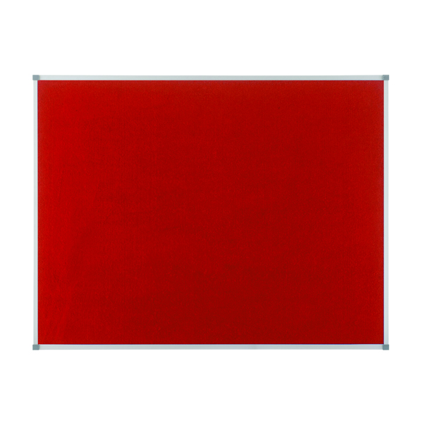 Nobo Classic Red Felt Noticeboard 900x600mm 1902259