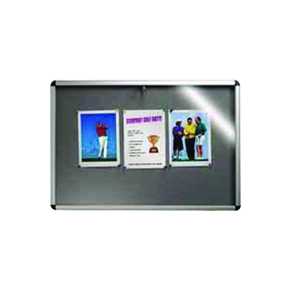 Nobo Internal Display Case A0 Grey Felt 1060x1350mm 31333501
