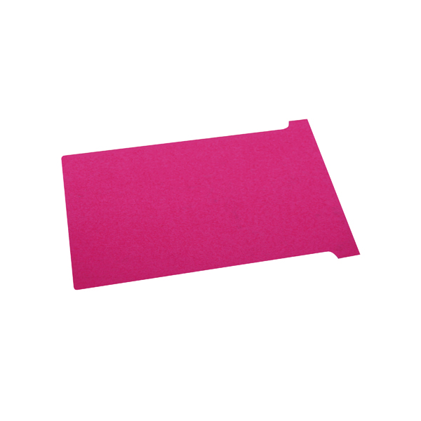 Nobo T-Card Size 2 48 x 85mm Red (Pack of 100) 2002003