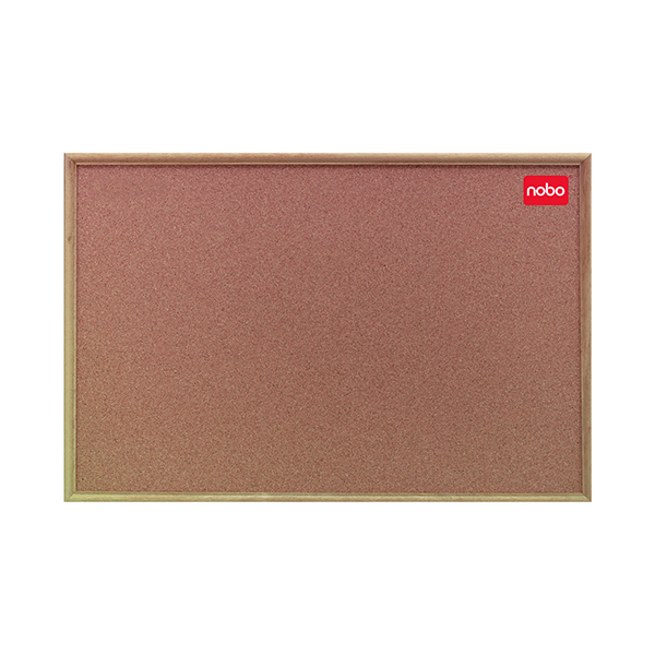 Nobo 1200x900mm Cork Classic Oak Noticeboard 37639004