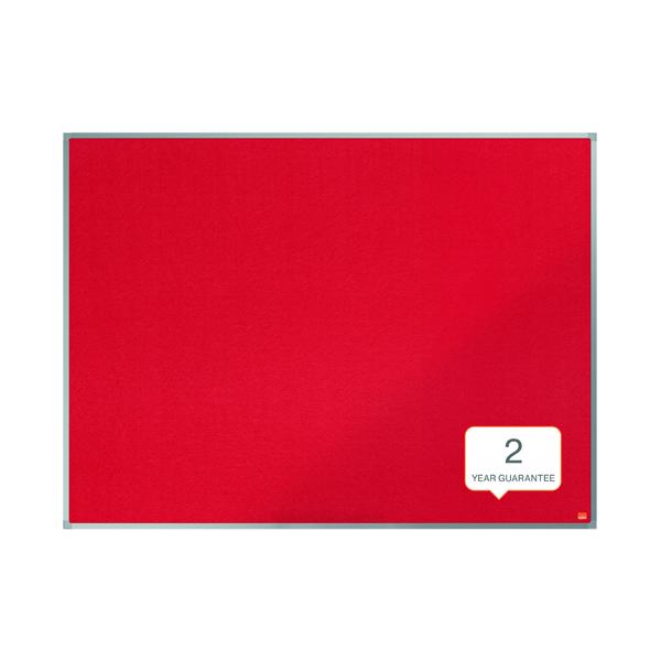 Nobo Essence Felt Notice Board 1200 x 900mm Red 1904067