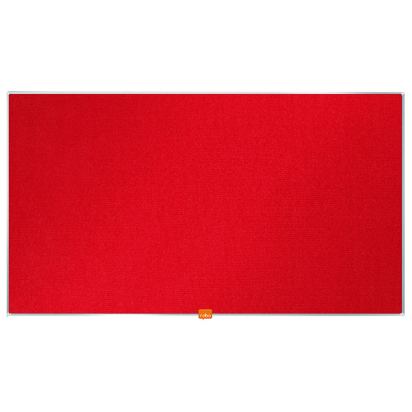 Nobo Widescreen 40inch Red Felt Noticeboard 890x500mm 1905311