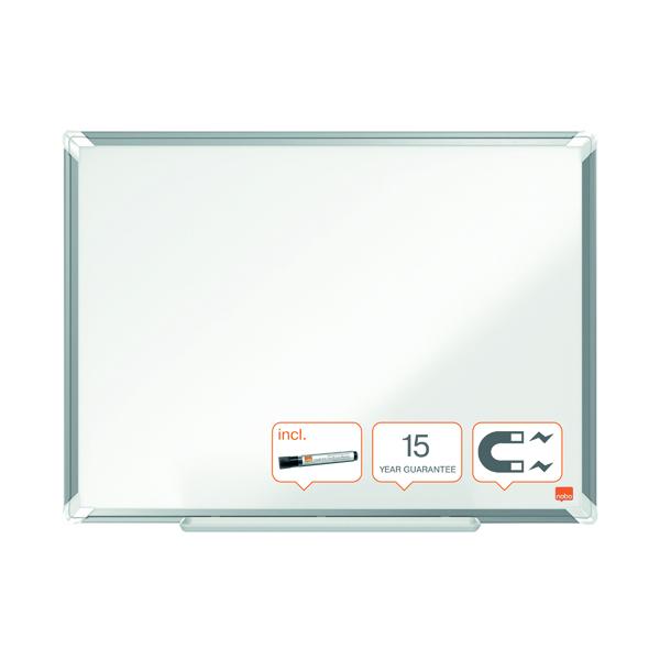 Nobo Premium Plus Steel Magnetic Whiteboard 1800 x 1200mm 1915161