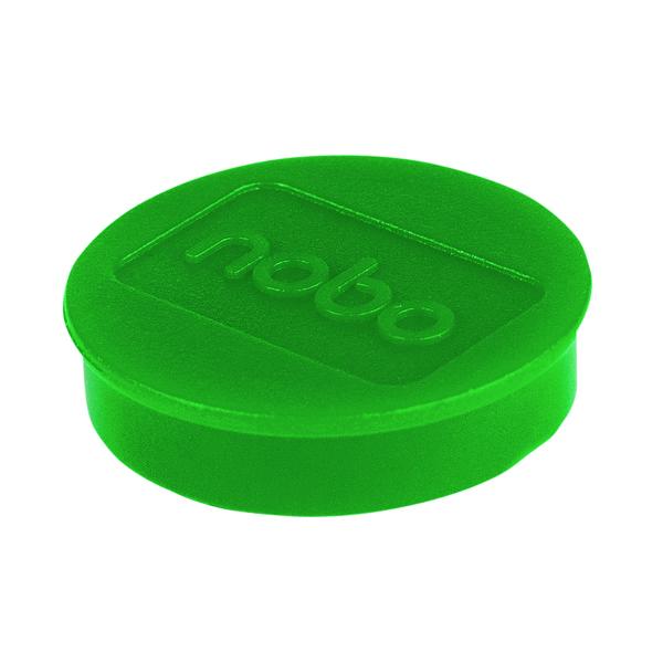 Nobo Whiteboard Magnets 38mm Green (Pack of 10) 1915317