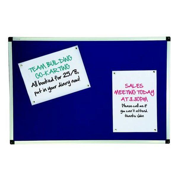 Initiative Noticeboard 900 x 600mm (3 x 2) Aluminium Frame Blue