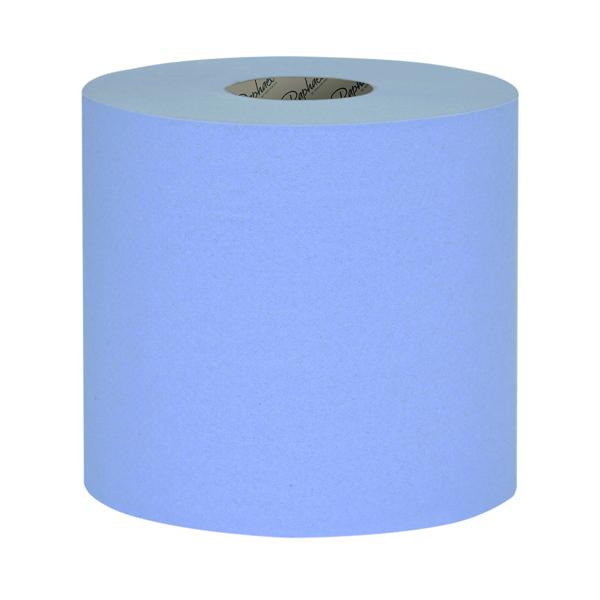 Raphael 1Ply Blue Roll Towel 250m x 200mm (Pack of 6) RT1B250R