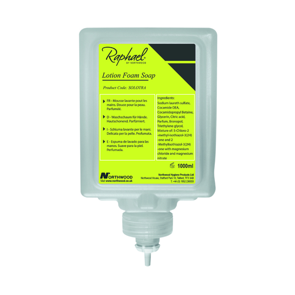 Raphael 1000ml Lotion Soap Cartridges (Pack of 6) SOLOTRA