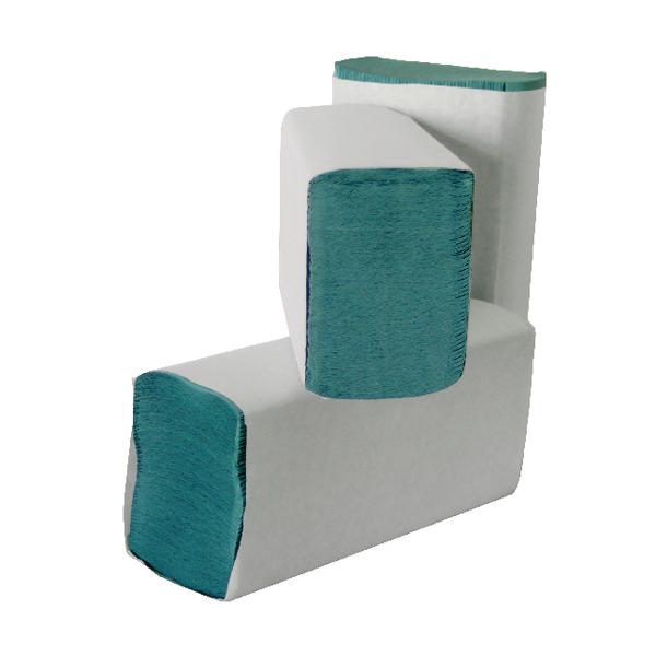 Leonardo 1-Ply M-Fold Hand Towel Green (Pack of 3000) HMG130