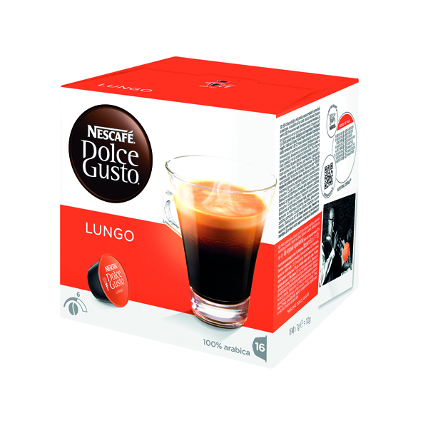Nescafe Dolce Gusto Cafe Lungo Capsules (Pack of 48) 12431827