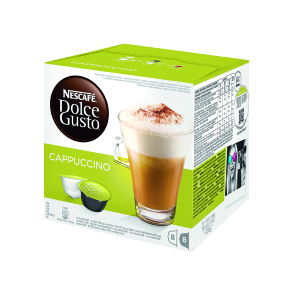 Nescafe Dolce Gusto Cappucino Capsules (Pack of 48) 12352725