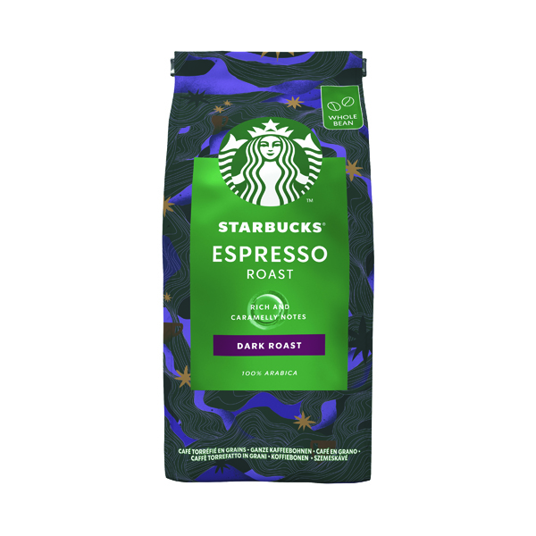 Starbucks Espresso Dark Roast Whole Bean Coffee 200g 12461186