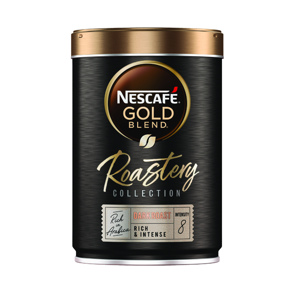 Nescafe Gold Blend Roastery Collection Dark Roast Instant Coffee 100g (Pack of 6) 12465134