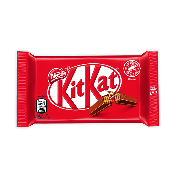 Nestle KitKat Four Finger Milk Chocolate (Pack of 24) 12351222