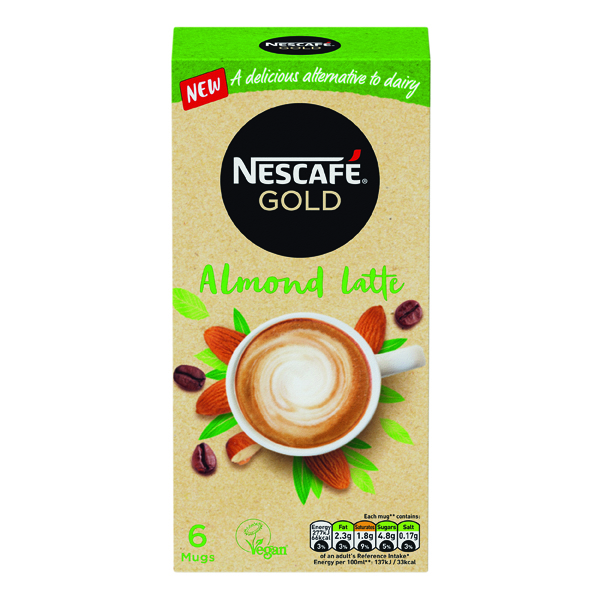 Nescafe Gold Almond Latte 16g (Pack of 30) 12429889