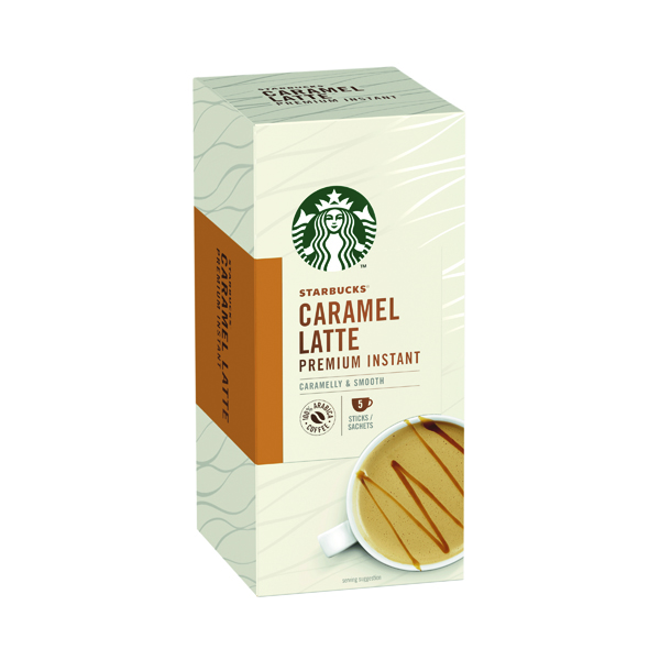 Starbucks Caramel Latte Instant 107.5g 5 Sachets (Pack of 6) 12431759