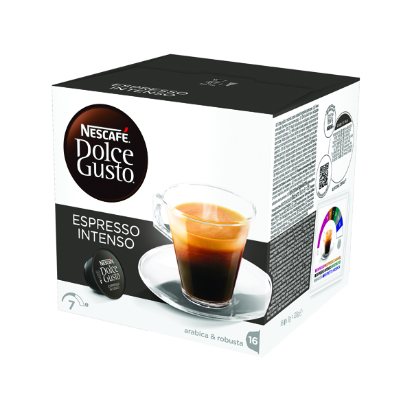 Nescafe Dolce Gusto Espresso Intenso Capsules (Pack of 48) 12386552