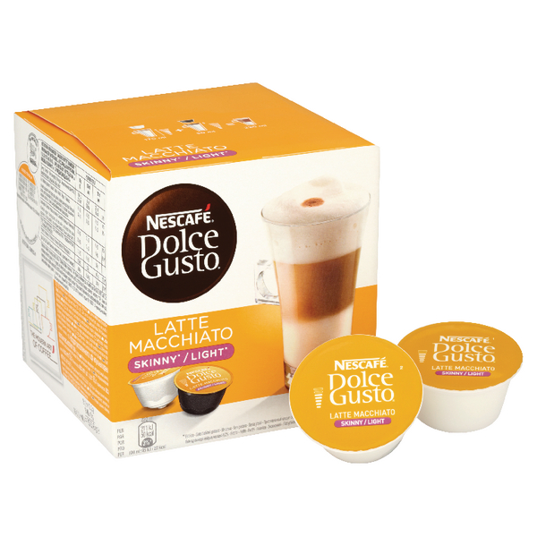 Nescafe Dolce Gusto Skinny Latte Capsules (Pack of 48) 12051231