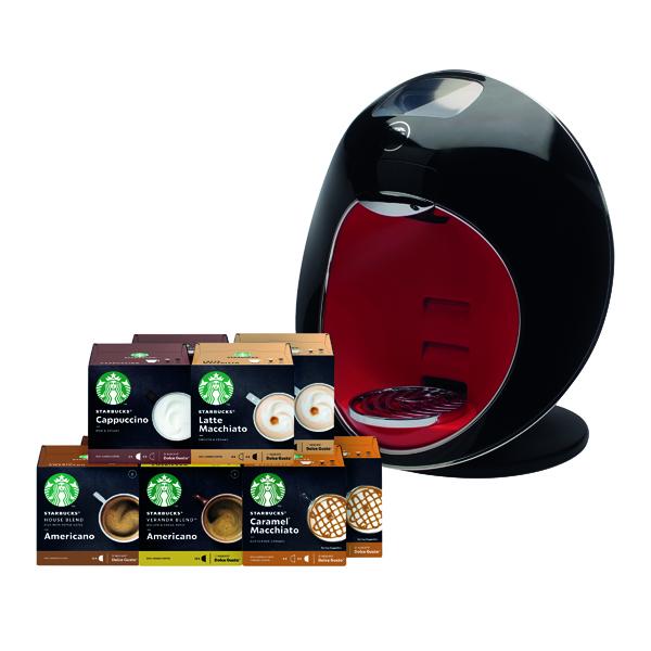 Nescafe Dolce Gusto Majesto Coffee Machine with FOC Starbucks Pods (360 Pack)