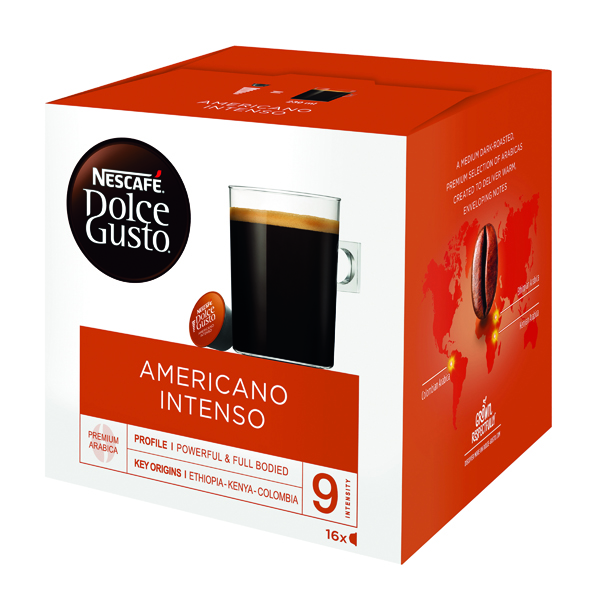 Nescafe Dolce Gusto Americano Intenso Capsules (Pack of 48) 12208476