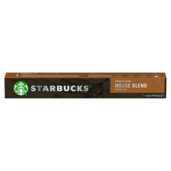 Nespresso Starbucks House Blend Lungo Coffee Pods (Pack of 10) 12423278