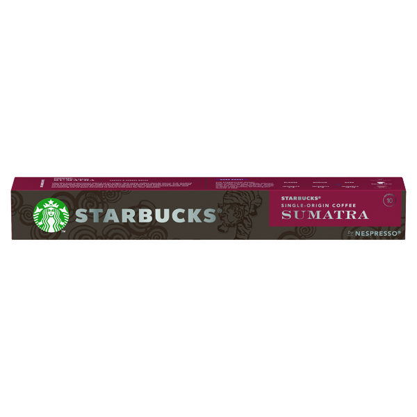 Nespresso Starbucks Sumatra Espresso Coffee Pods (Pack of 10) 12423376