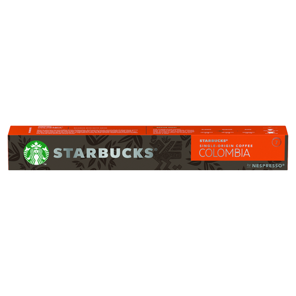 Nespresso Starbucks Colombia Espresso Coffee Pods (Pack of 10) 12423359