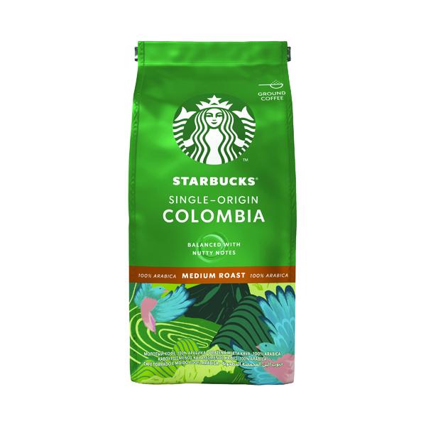 Starbucks Medium Roast Single-Origin Colombia Ground Coffee 200g 12400229